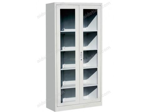 通体玻璃平开柜 资料柜 钢制办公档案柜