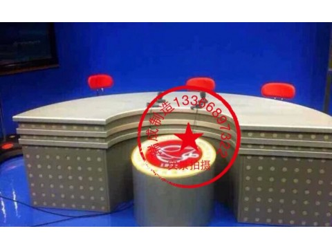 双人演播室播音桌多人直播桌录播桌非编广播桌