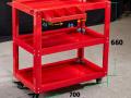 双抽屉汽修工具车 多功能移动推车汽车维修工具柜