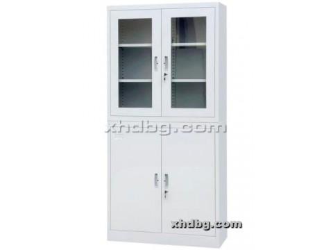 上玻下铁开门柜 钢制文件柜