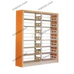 双联双柱木护板书架