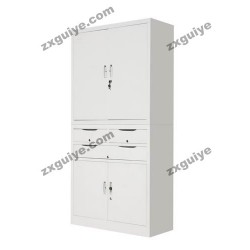 文件柜铁皮柜凭证柜三屉双节柜