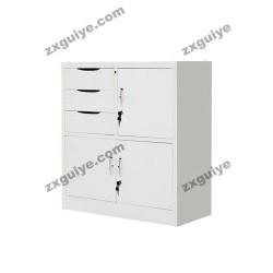 文件柜铁皮柜子储物柜偏三屉矮柜(内保)