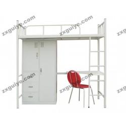 北京中迅双人床学生宿舍铁架床