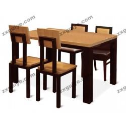 北京中迅快餐桌椅餐厅组合