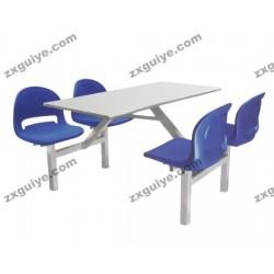 北京中迅档案学校员工食堂餐桌椅