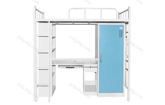 香河军臣铁柜文件柜厂家提示您 宿舍公寓上下床建议采用钢制床架和钢制床下柜组合
