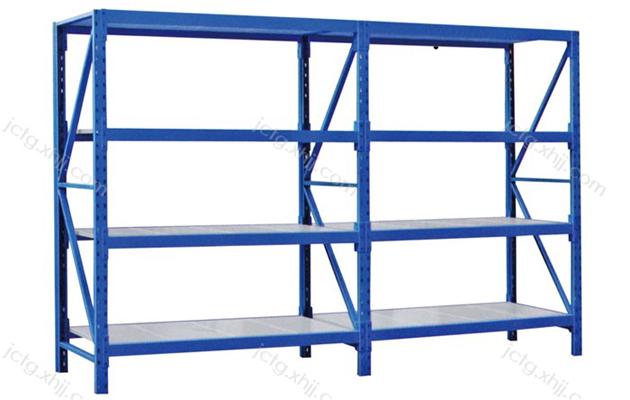 香河军臣仓储货架厂家告诉您超市仓库中使用钢制货架的特点