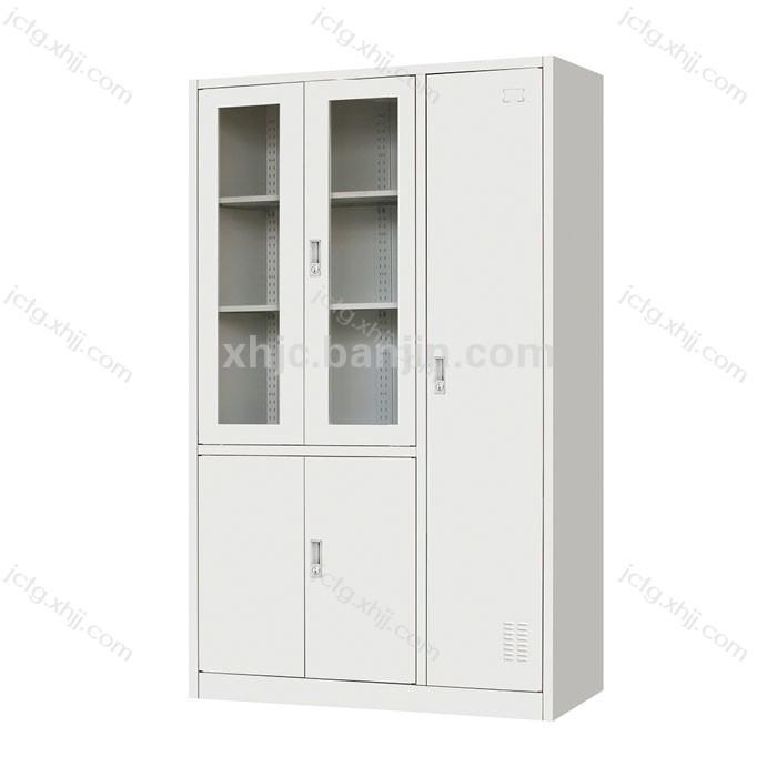 铁皮柜钢制办公柜 平开书柜带更衣柜 04