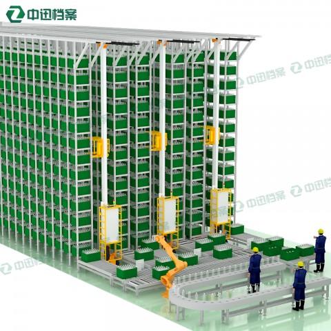 自动化立体库堆垛机垂直升降贯通式货架无人智能仓库