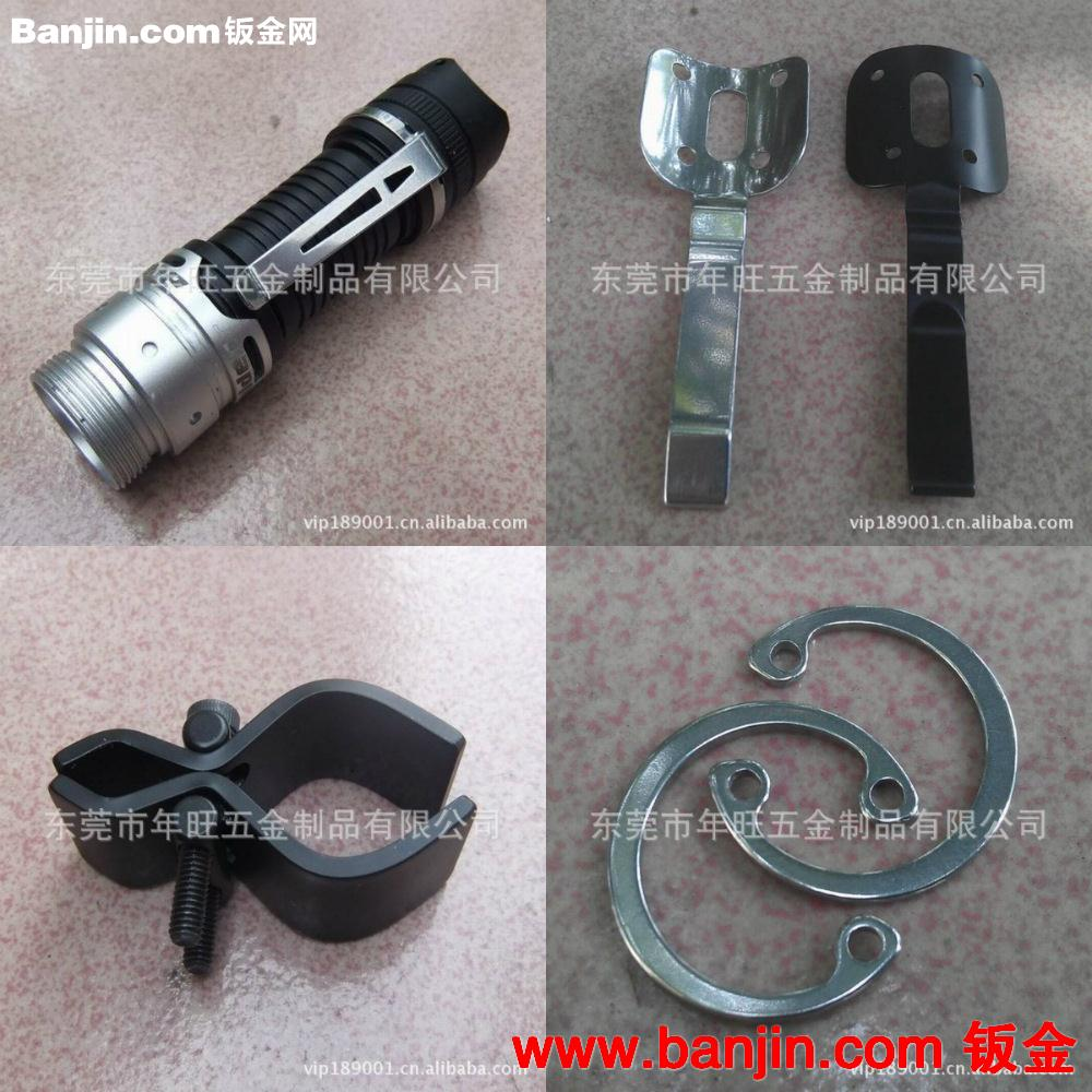 手电筒金属夹子 自行车灯夹子 万能手电筒夹具 黑色瞄准夹子图片