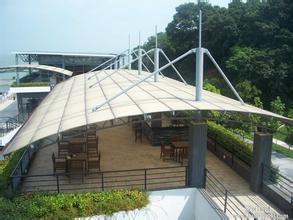 厂家专业制作安装天台膜结构雨棚 遮阳篷图片